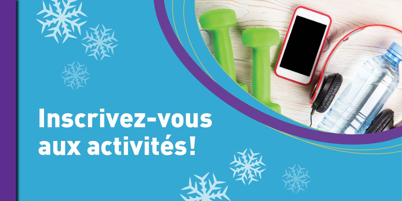 publicité annonçant la période d'inscription aux activités hivernales