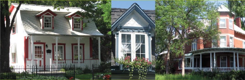 Montage photo de maisons patrimoniales dans Ahuntsic-Cartierville