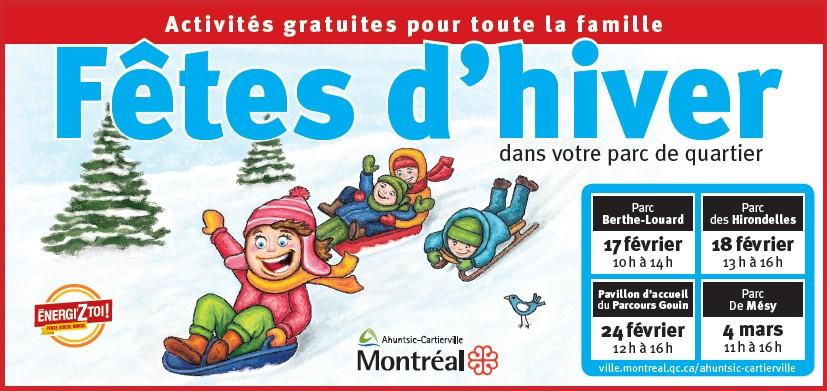 Publicité des fêtes d'hiver d'Ahuntsic-Cartierville