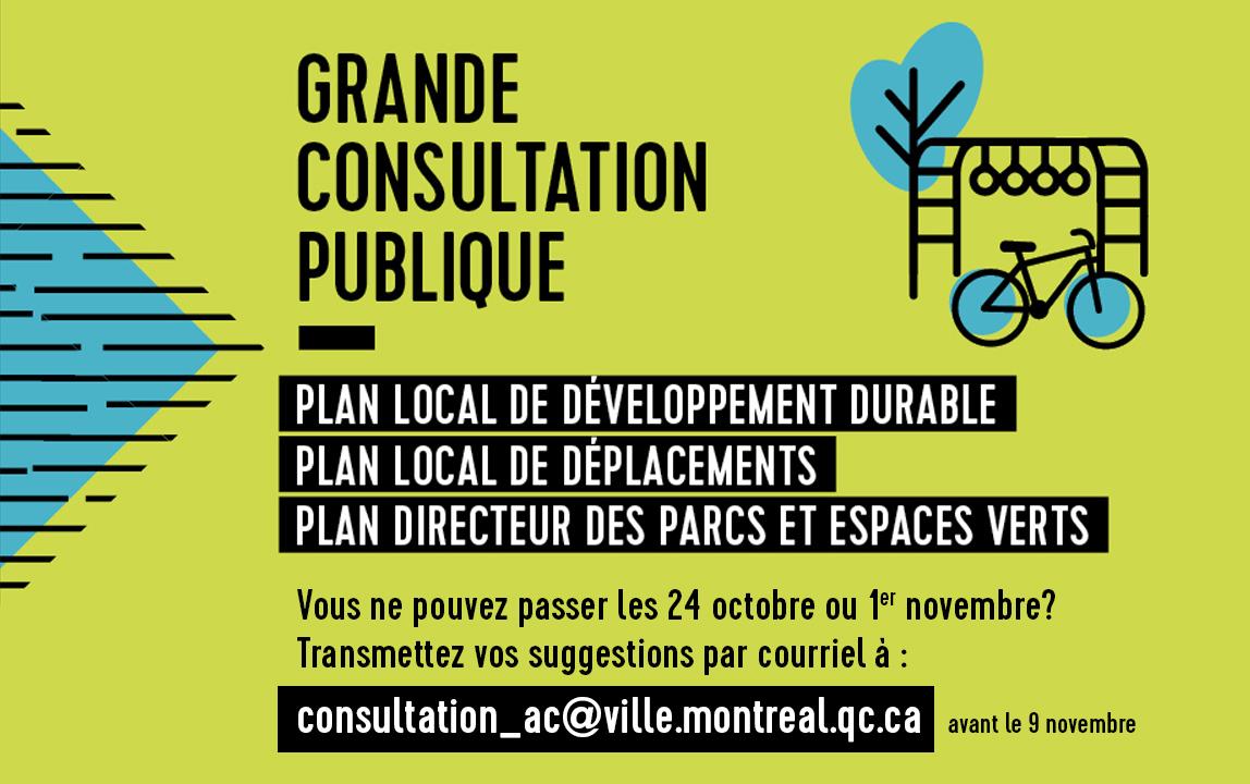 Affiche Grande consultation, deux dates, trois thèmes