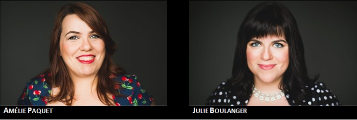 Photo du couple d'auteure Julie Bélanger et Amélie Paquet