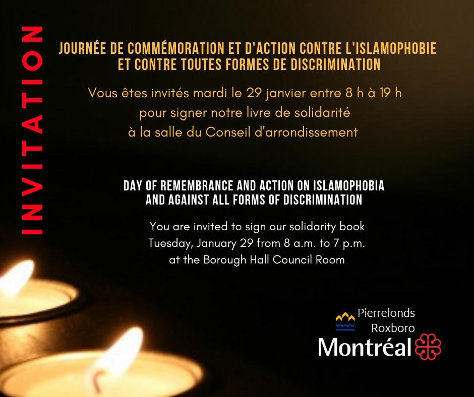 Journée de commémoration - Signez le livre de solidarité