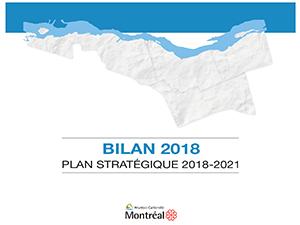 Page couverture du Bilan 2018 du Plan stratégique 2018-2021