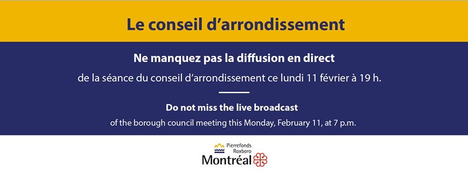 Conseil d'arrondissement 11 février