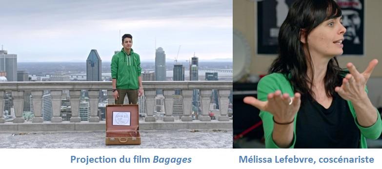 Mélissa Lefebvre coscénariste du film Bagages