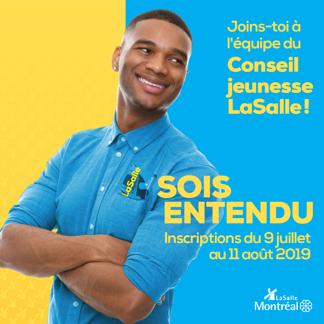 Conseil jeunesse LaSalle : joins-toi à l'équipe!