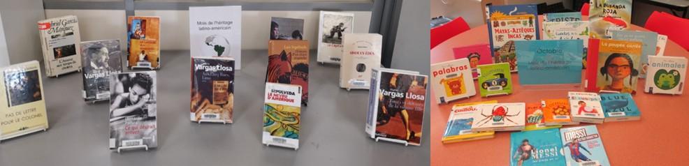 photo de couvertures d'ouvrages d'auteurs latino-américains