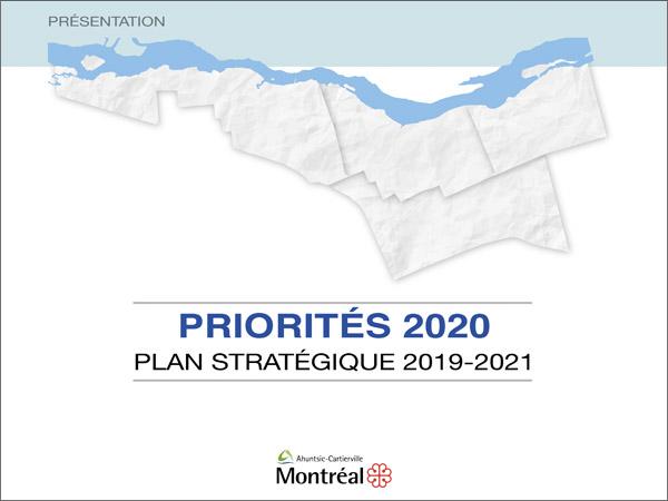 Couverture de la présentation Priorités 2020 - Plan stratégique 2019-2021